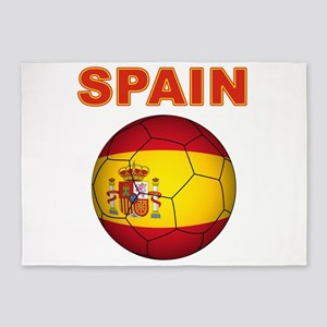 Spain soccer 5'x7'Area Rug