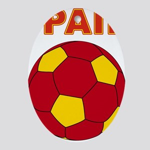 Spain soccer Ornament (Oval)