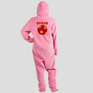 Spain soccer Footed Pajamas