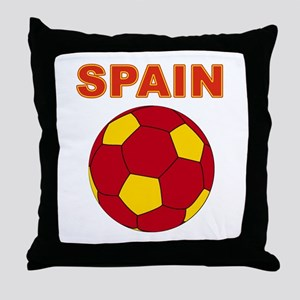 Spain soccer Throw Pillow