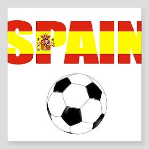 "Spain soccer Square Car Magnet 3"" x 3"""