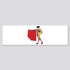 Matador Spanish Bull Fighting Bumper Sticker