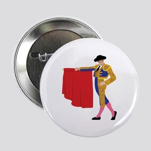 """Matador Spanish Bull Fighting 2.25"""" Button"""