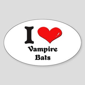 I love vampire bats Oval Sticker