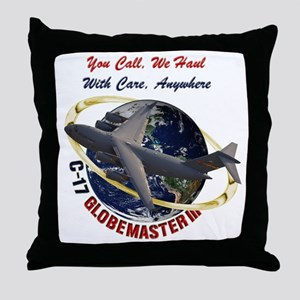 C-17 You Call, we Haul Throw Pillow