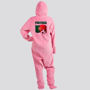 Portugal futebol soccer Footed Pajamas