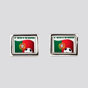 Portugal futebol soccer Rectangular Cufflinks