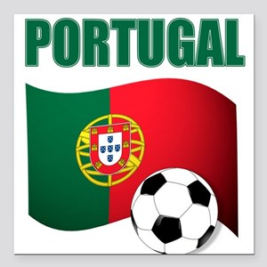 "Portugal futebol soccer Square Car Magnet 3"" x 3"""