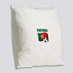 Portugal futebol soccer Burlap Throw Pillow