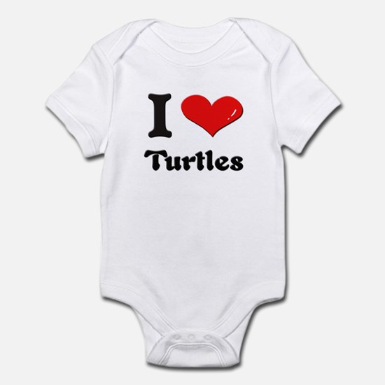 I love turtles  Infant Bodysuit