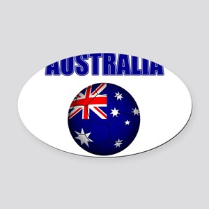 Australia Football Oval Car Magnet