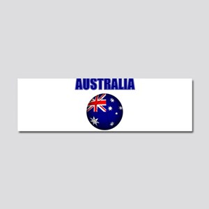 Australia Football Car Magnet 10 x 3