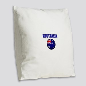 Australia Football Burlap Throw Pillow