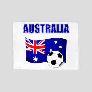Australia Football 5 X7 Area Rug