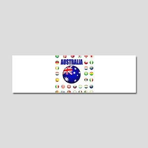 Australia Football Car Magnet 10 x 3