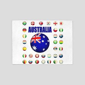 Australia Football 5'x7'Area Rug