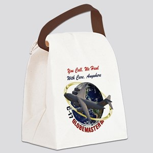 C-17 You Call, We Haul Canvas Lunch Bag