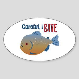 Careful,I Bite Sticker