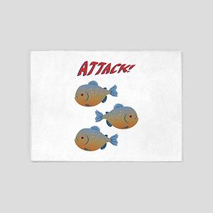 ATTACK! 5'x7'Area Rug