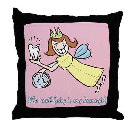 Cute Tooth Fairy Throw Pillow