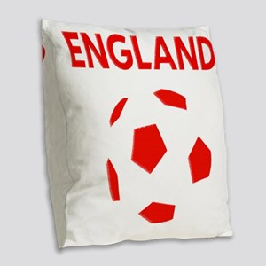 England Football Burlap Throw Pillow