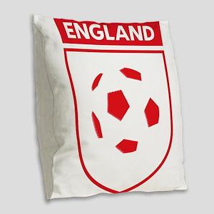 England Football Burlap Throw Pillow