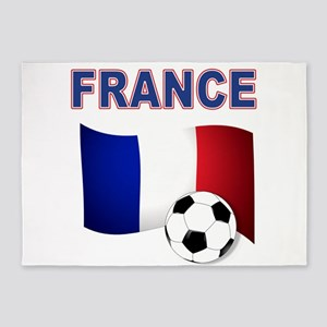 France Football 5'x7'Area Rug