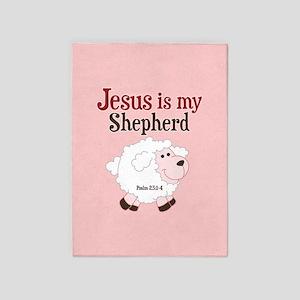 Jesus Is Shepherd 5'x7'Area Rug