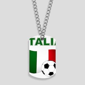 Italia calcio football Dog Tags