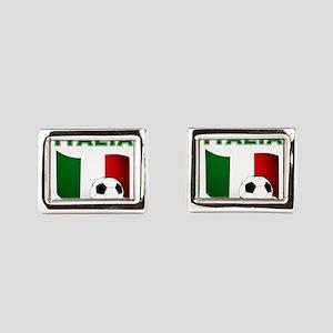 Italia calcio football Rectangular Cufflinks