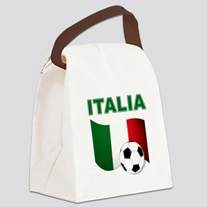 Italia calcio football Canvas Lunch Bag