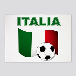 Italia calcio football 5'x7'Area Rug