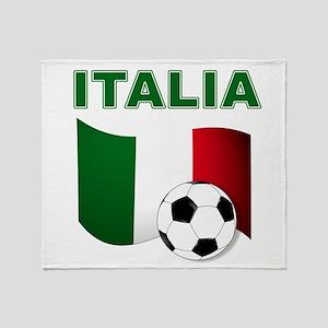 Italia calcio football Throw Blanket
