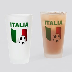 Italia calcio football Drinking Glass