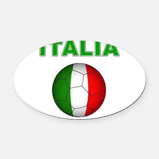 Italia calcio football Oval Car Magnet