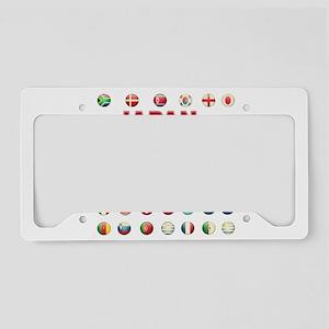 Japan soccer License Plate Holder