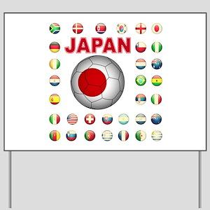 Japan soccer Yard Sign