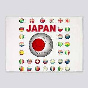 Japan soccer 5'x7'Area Rug