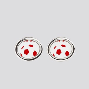 Japan soccer Oval Cufflinks