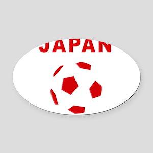 Japan soccer Oval Car Magnet