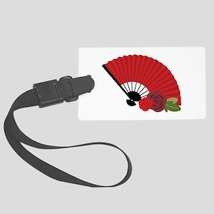 Spanish Asian Flamenco Folding Fan Luggage Tag