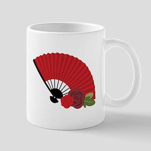 Spanish Asian Flamenco Folding Fan Mugs