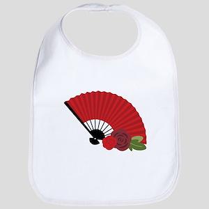Spanish Asian Flamenco Folding Fan Bib