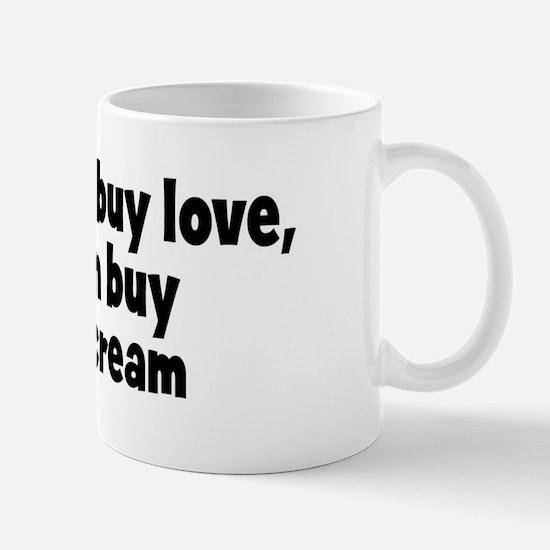 whipped cream (money) Mug
