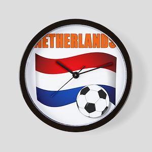 Netherlands soccer Wall Clock