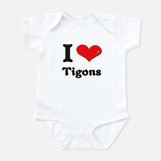 I love tigons  Infant Bodysuit