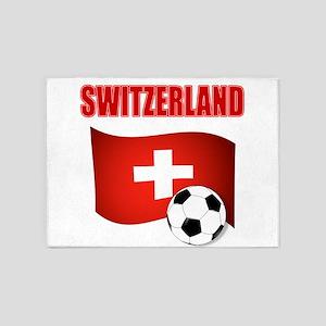 Switzerland soccer 5'x7'Area Rug