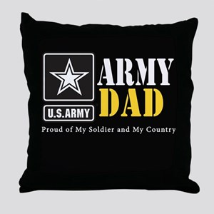 ArmyDad_BLCK_0414 Throw Pillow