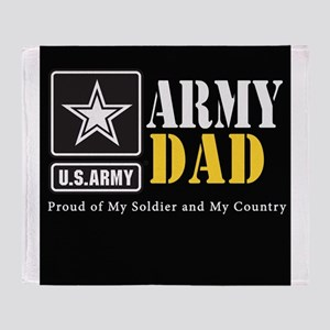 ArmyDad_BLCK_0414 Throw Blanket