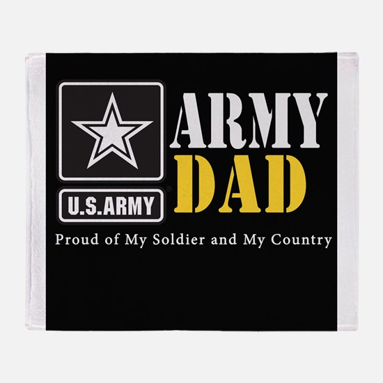 ArmyDad_BLCK_0414 Throw Blanket